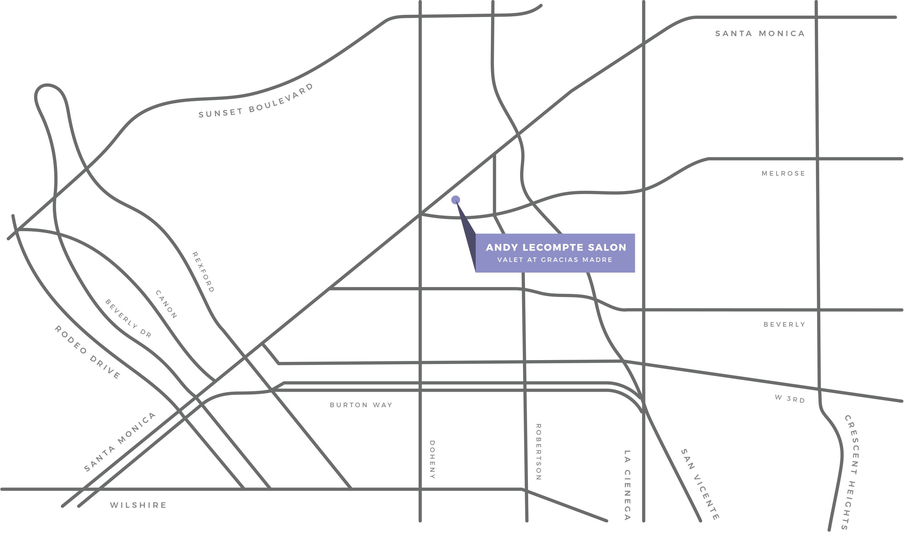 map illustration of andy lecompte salon